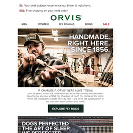 Orvis Email - Branding