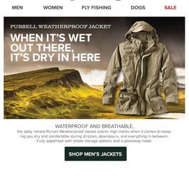 Orvis Email - UK Men's