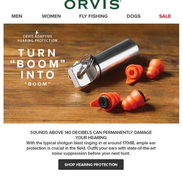 Orvis Email - Hunting