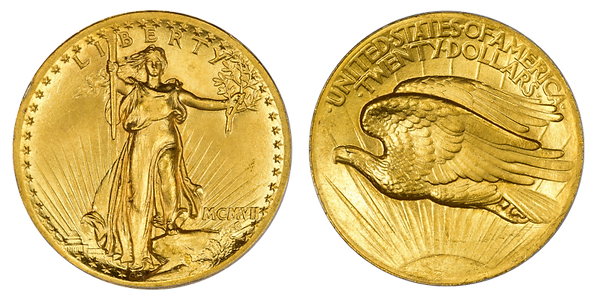 St Gaudens Coin Front and Back