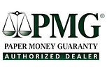 PMG Paper Money Guaranty Authorized Dealer Logo
