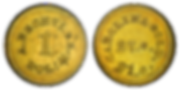 Augusts Bechtler Gold 1 Dollar 27 Grains coin front and back