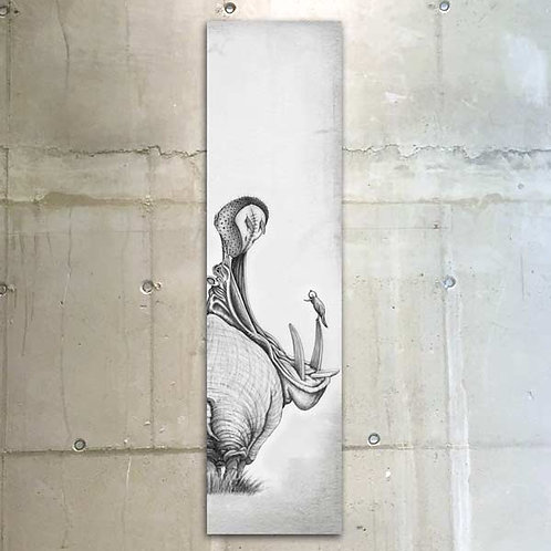 hippo / 30x120cm