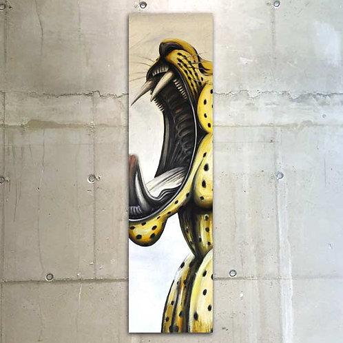 roaring panther / 30x120cm