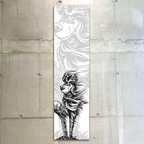 windhund b&w / 30x120cm