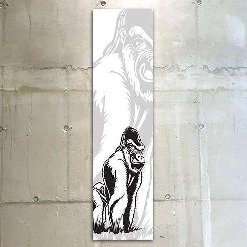 gorilla b&w / 30x120cm