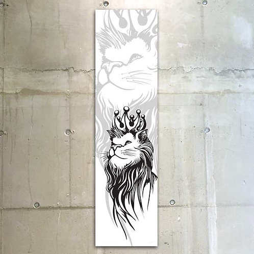 lion b&w / 30x120cm