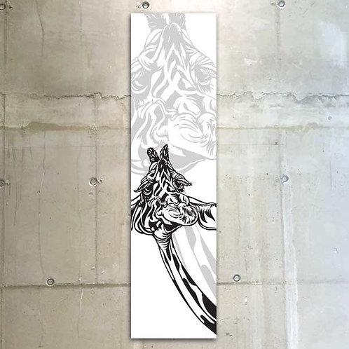 giraffe b&w / 30x120cm