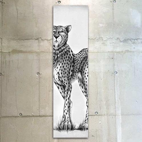 proud cheetah / 30x120cm