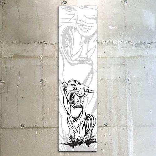 tiger b&w / 30x120cm