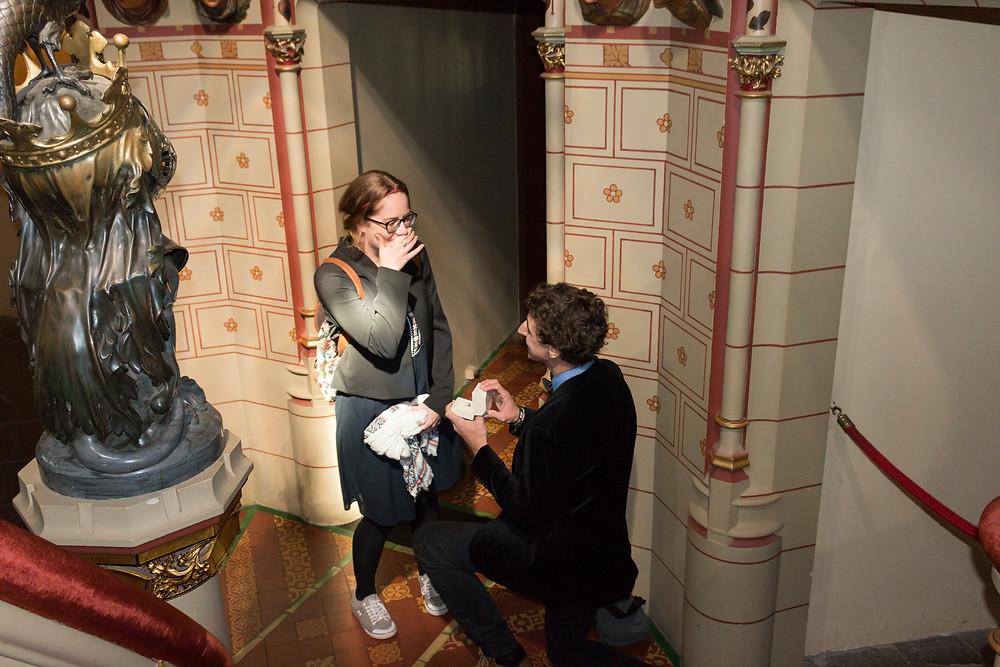 Surprise proposal Cardiff Castle