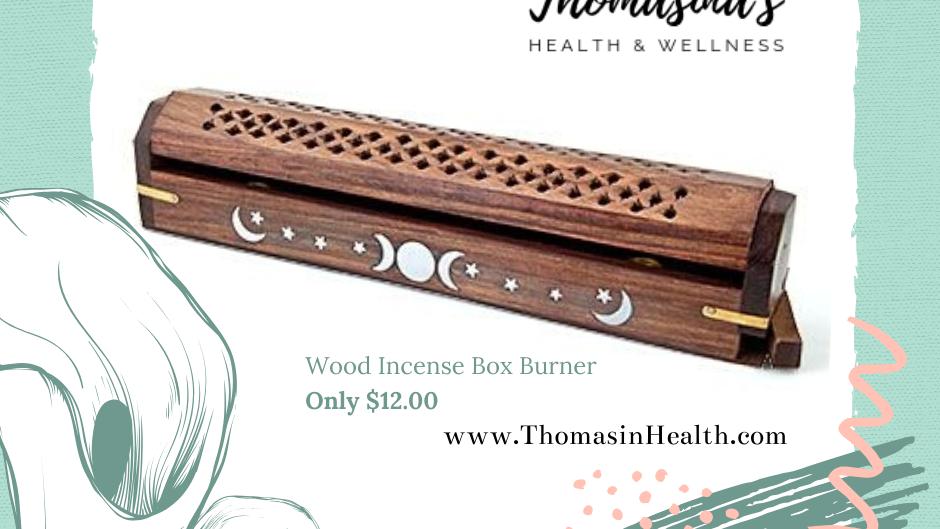 Wood Incense Box Burner