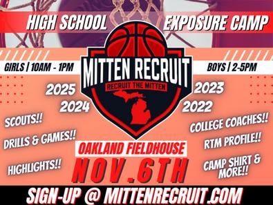 Mitten Recruit High School Exposure Camp