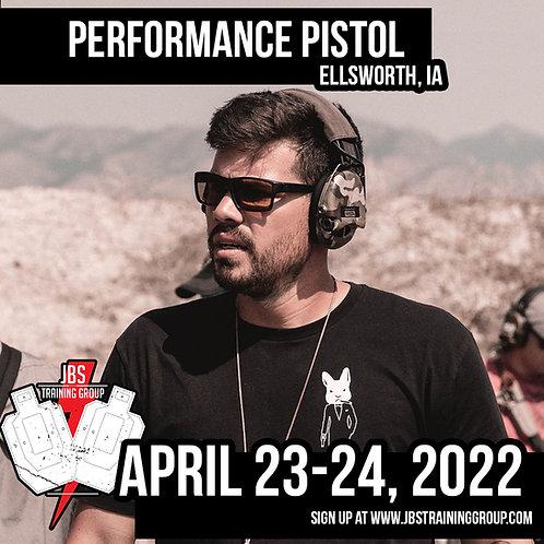 April 23-24, 2022 / Performance Pistol / Ellsworth, IA