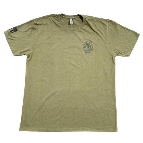 T-Shirt - Woodblock Green