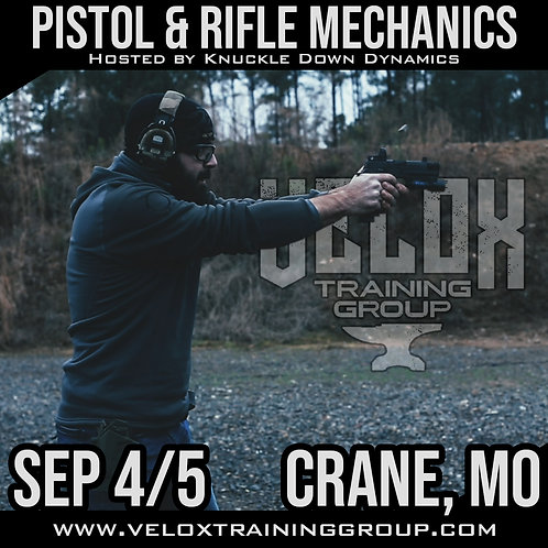 Sep 4-5 / Pistol and Rifle Mechanics / Crane, MO