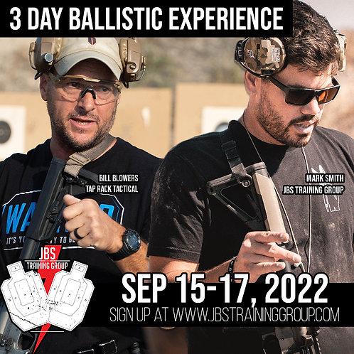 Sep 15-17 / 3 Day Ballistic Experience / San Jose, CA