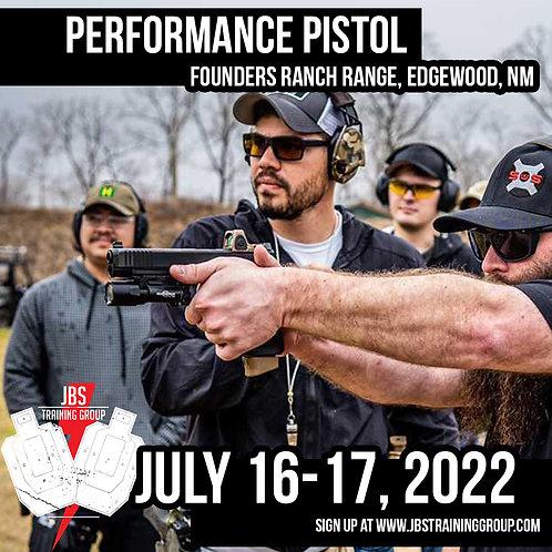 July 16-17 / Performance Pistol / Edgewood, NM