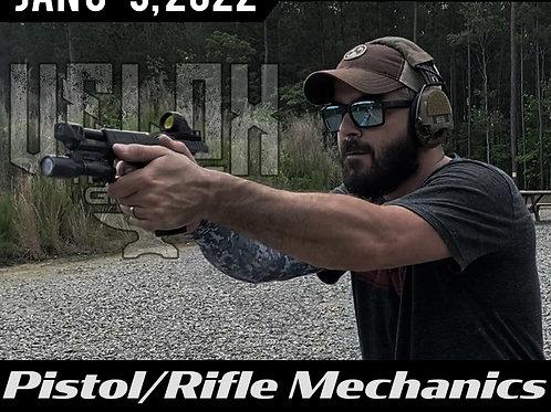 January 8-9 / Pistol-Rifle Mechanics / Burro Canyon, CA