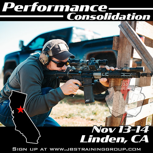 Nov 13-14 / 2 Day Performance Consolidation / Linden, CA