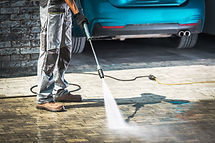 Cobble Driveway Pressure Washing by Cauc