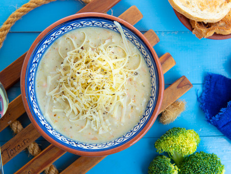 The Best Creamy Broccoli Soup (with Cheesy Toast)