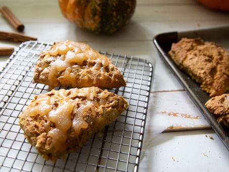 Festive Pumpkin Cinnamon Spiced Scones