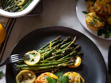 Soft & Crispy Roasted Asparagus with Parmesan, Garlic & Lemon