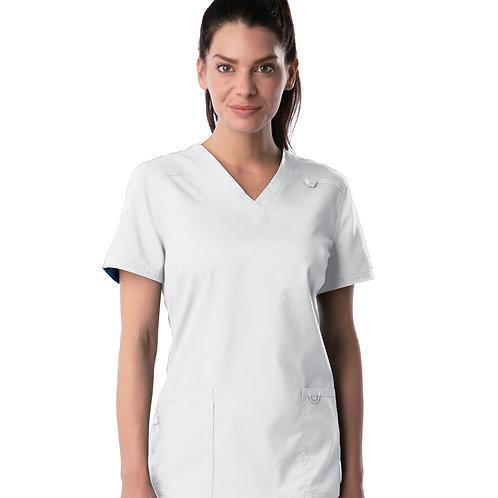 Women's Modern V-Neck Tunic - White