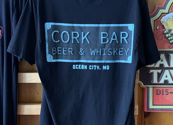 Cork Bar Beer & Whiskey Shirt