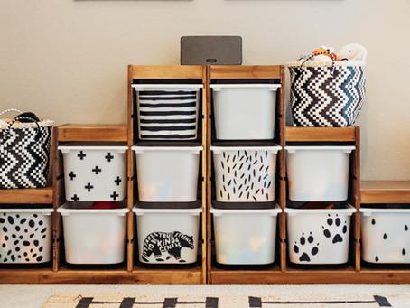 Ikea Trofast Storage Bin Makeover