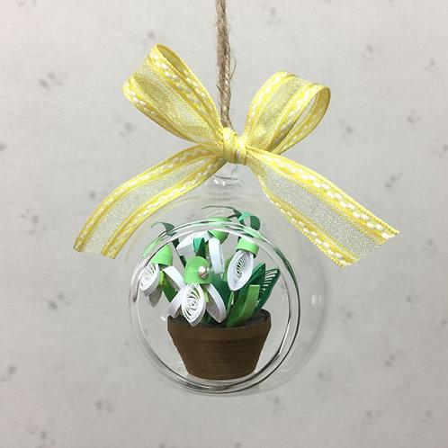 スノードロップハンギング(2月の花)