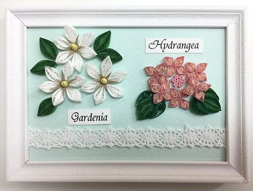 ガーデニアとアジサイ(6月の花)