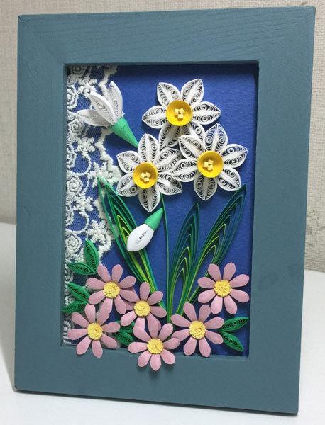 水仙とデージー(1月の花)