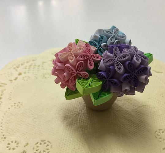 紫陽花の鉢植え