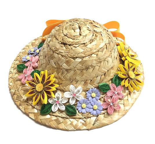 ミニ麦わら帽子(ガザニア)