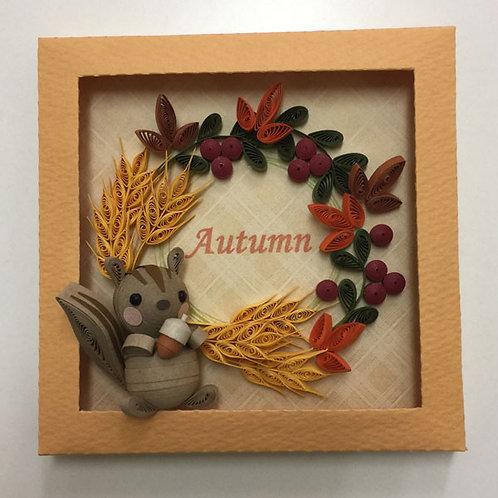 麦穂の秋リース