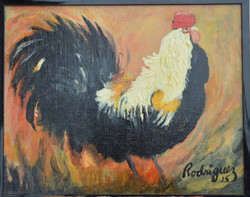 Black & Cream Rooster
