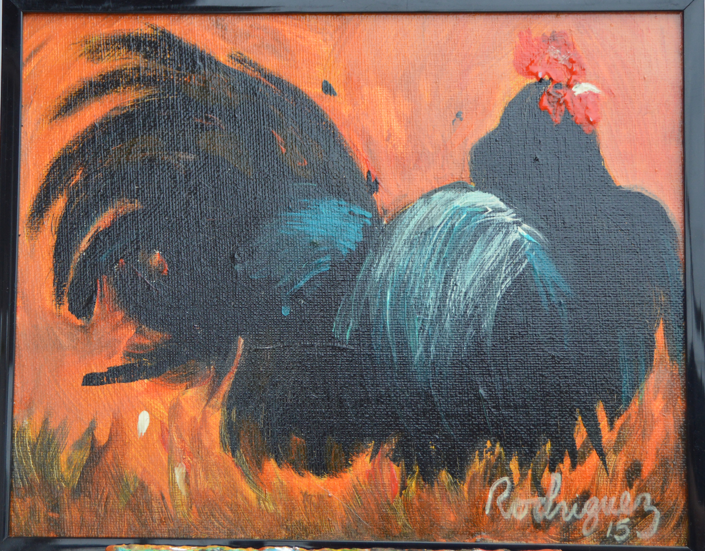 Black & Blue Rooster