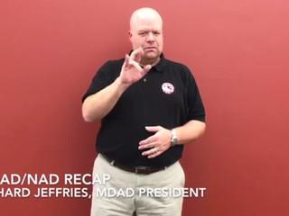 NAD Conference 2018: MDAD-NAD Recap