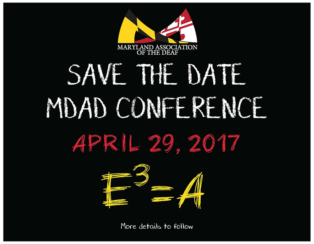 SAVE THE DATE MDAD Conference April 29, 2017 E3=A