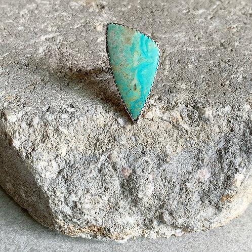 Natural Turquoise Basic Bezel Set Ring - adjustable size