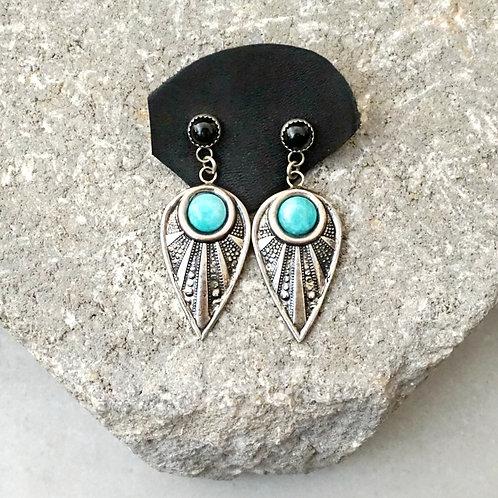 Lead The Way 2 Stone Earrings - RTS