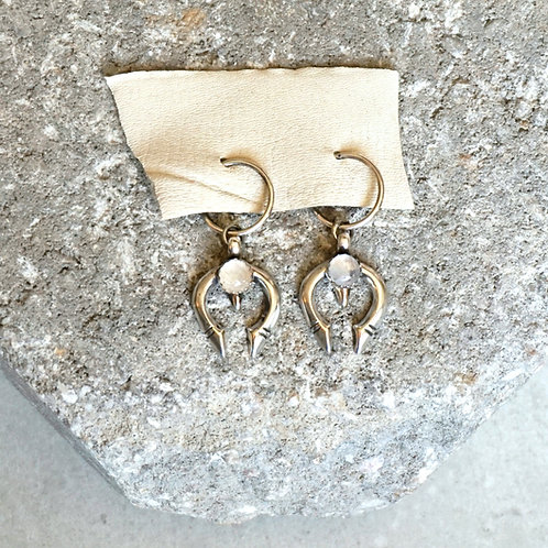 Mini Naja Earrings - 2 stone options