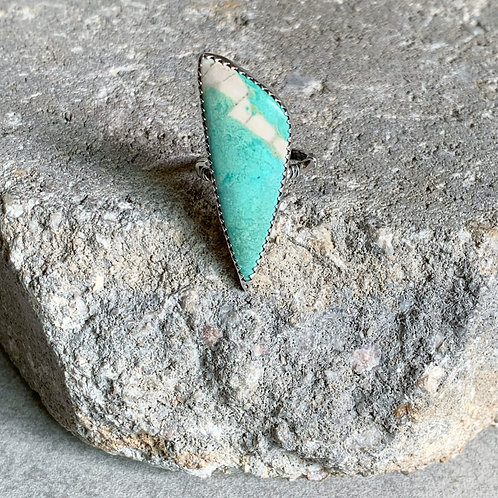 Natural Turquoise Basic Bezel Set Ring - adjustable size