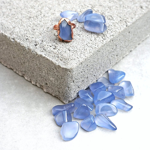 Blue Chalcedony Electroform Ring