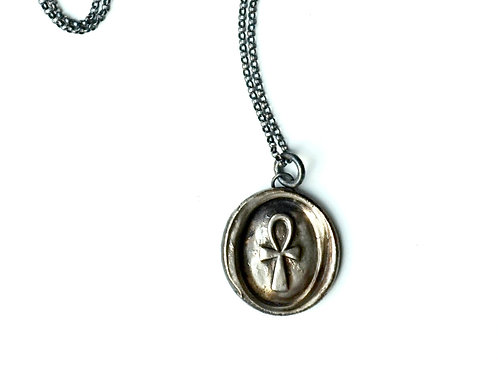Egyptian Ankh Wax Seal Stamp Necklace