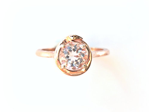 Morganite Ouroboros Stone Ring