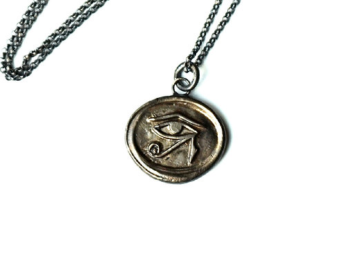 Eye of Horus Wax Seal Stamp Necklace