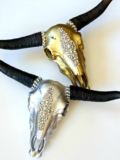 Élégance FAUX Cow Skull - 2 colors available
